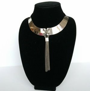 Silver-tone Collar Necklace